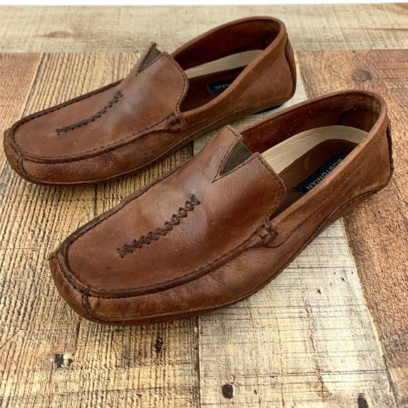 Bostonian Brown Leather Driving Loafers